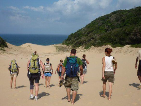 Hiking Kosi Bay at Utshwayelo Lodge
