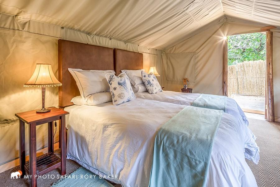Luxury tent accommodation at Kosi Bay Utshwayelo Lodge